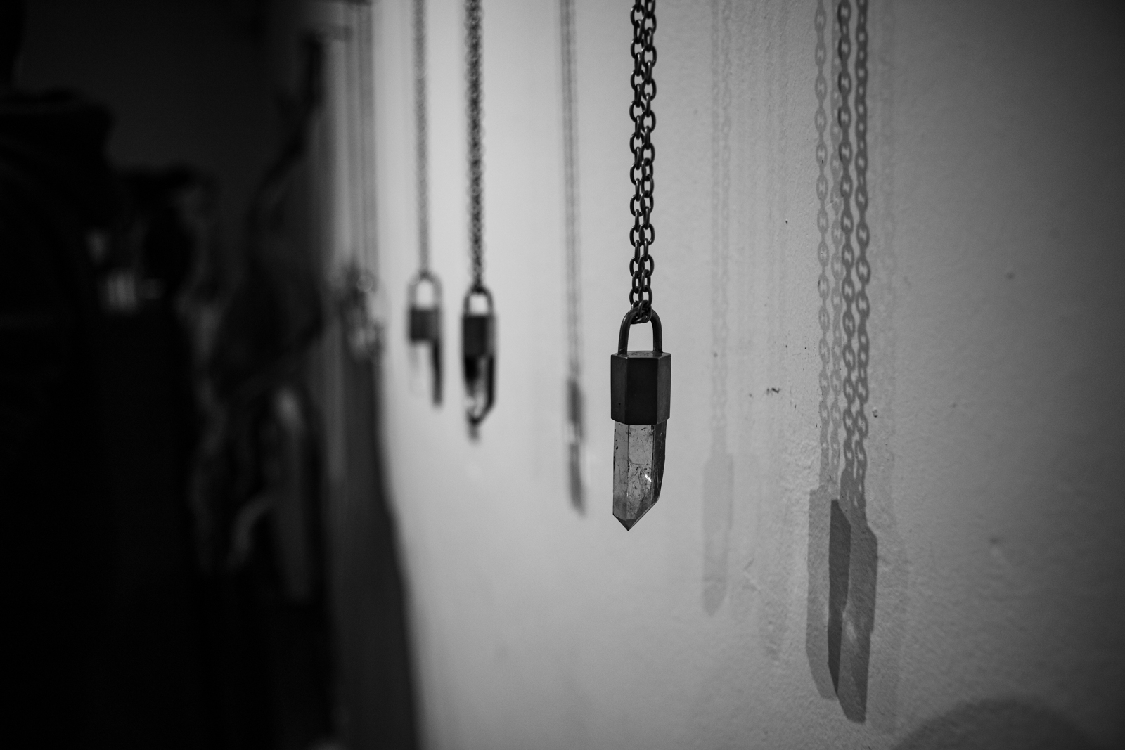 Parts of 4 Showroom Hanging Talisman Necklaces FW20