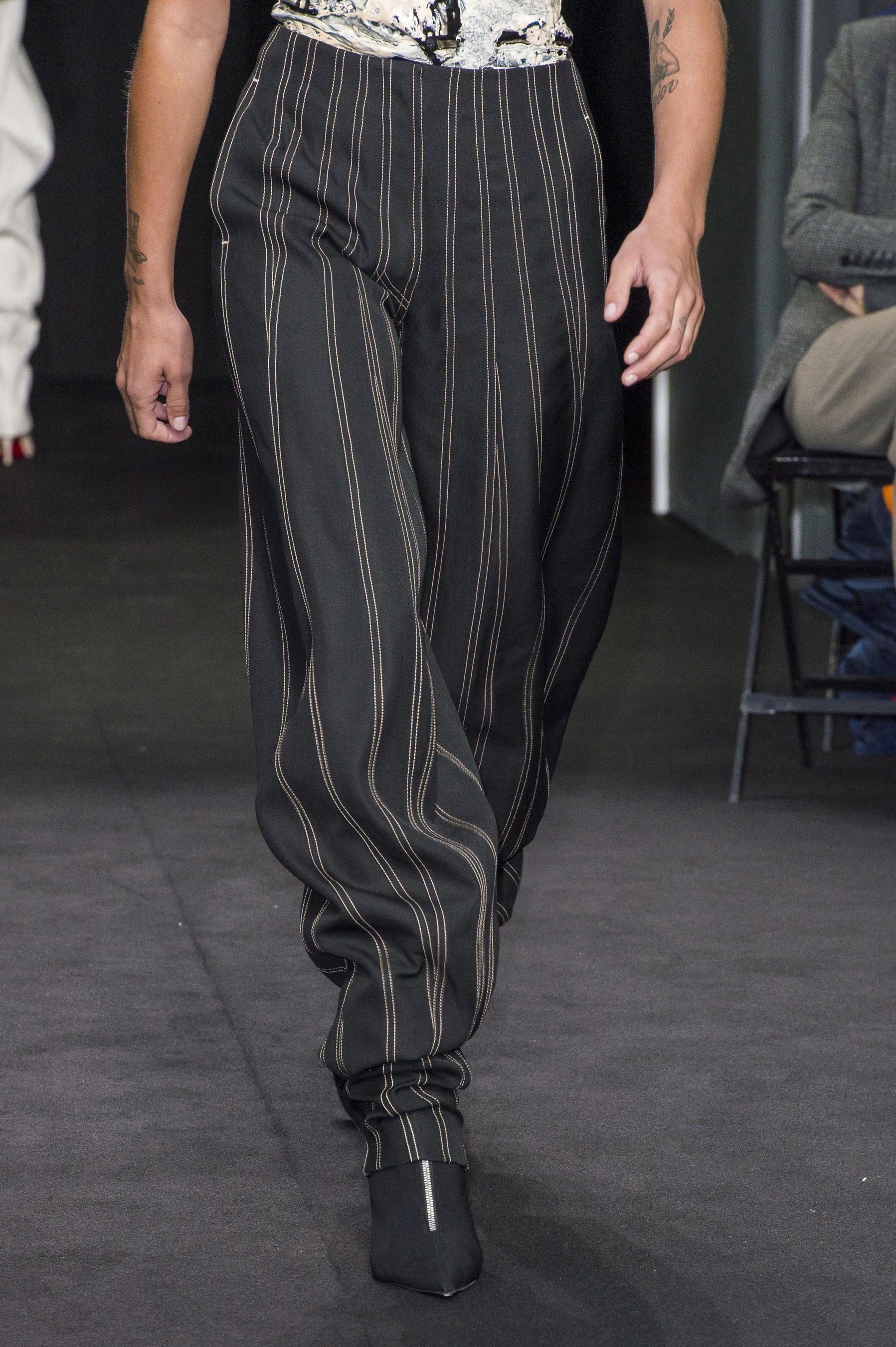 Mugler Details High Waisted Spiral Seam Stitch Trousers Spring 19