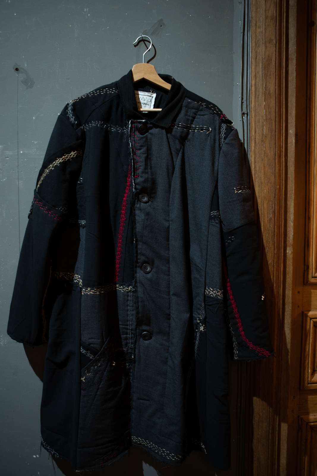 By Walid Contrast Stitch Patchwork Coat FW20