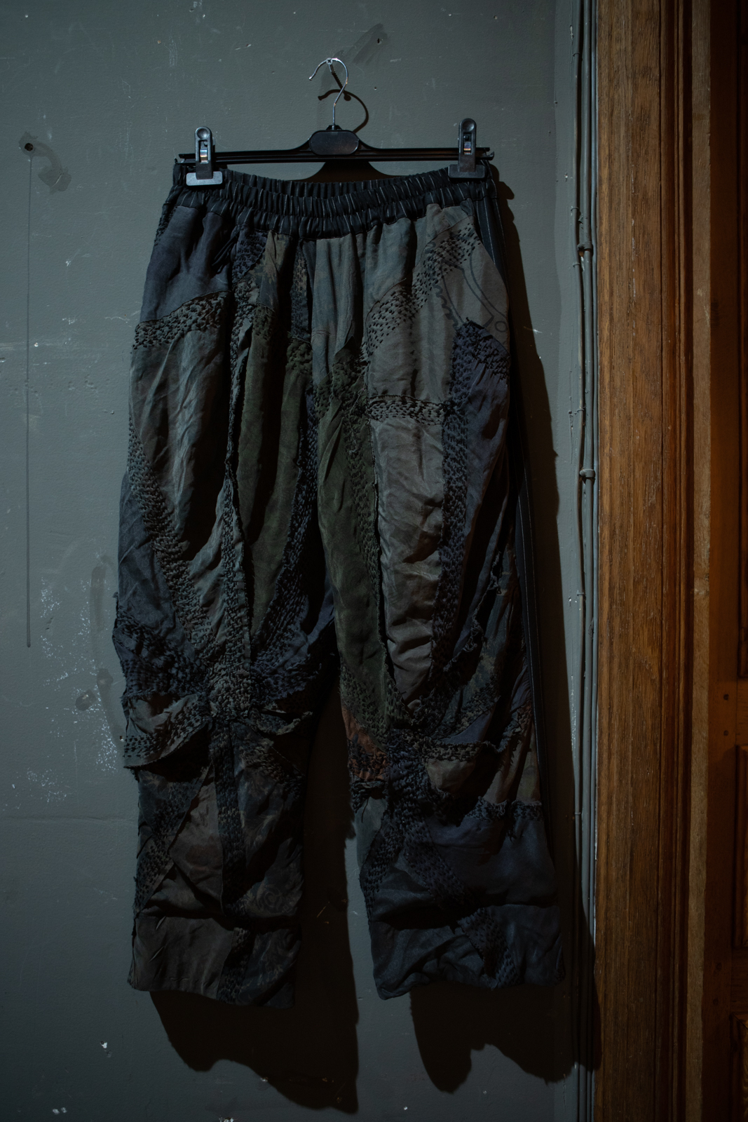 By Walid Patchwork Trousers in Grey FW20