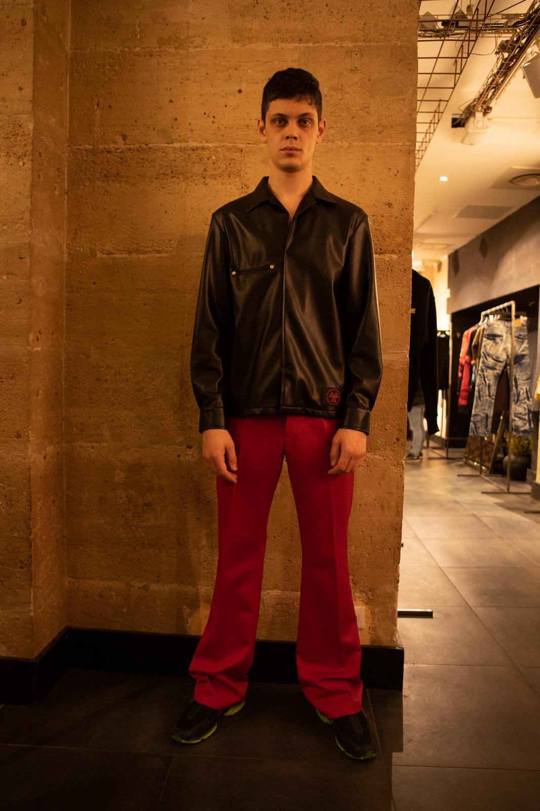Misbhv Chest Pocket Jacket in Black Leather FW20