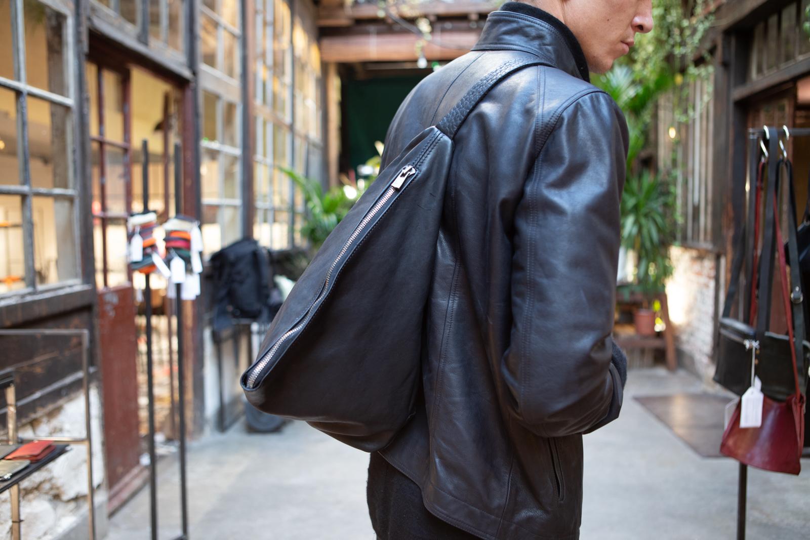 Guidi Belt Bag in Black Leather FW20