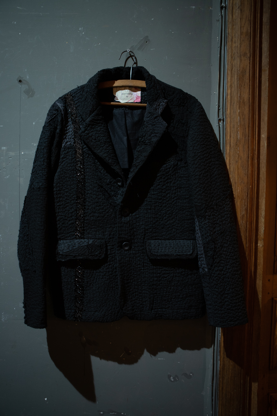 By Walid Cut and Sew Single Breasted Blazer in Black FW20