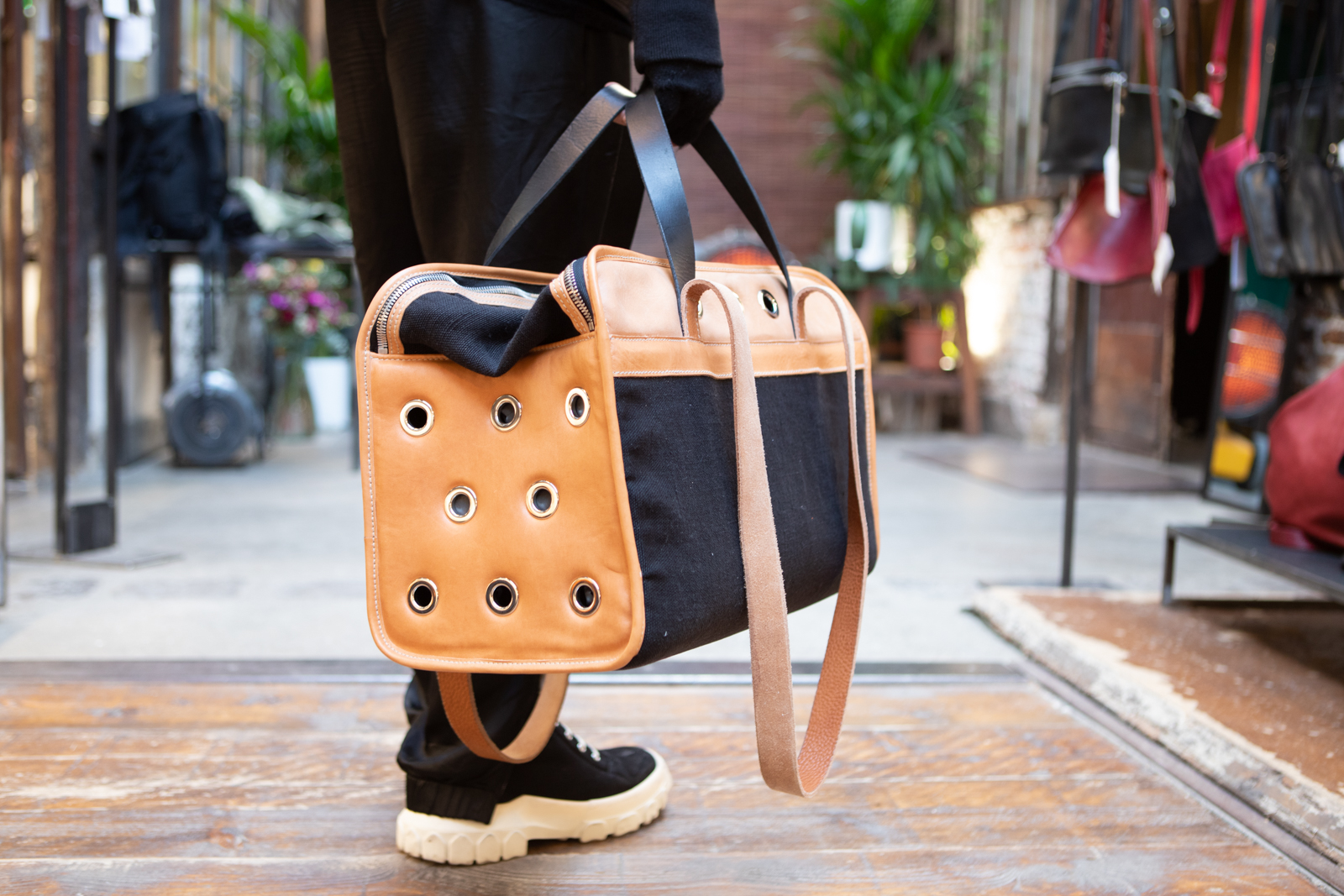 Guidi Hold All Two-Tone Pet Travel Bag FW20