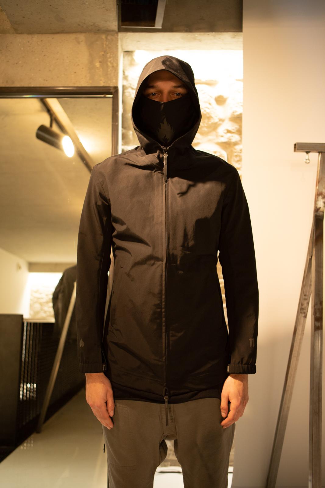 11 By Boris Bidjan Saberi Lightweight Hooded Jacket With Logo Mask FW20