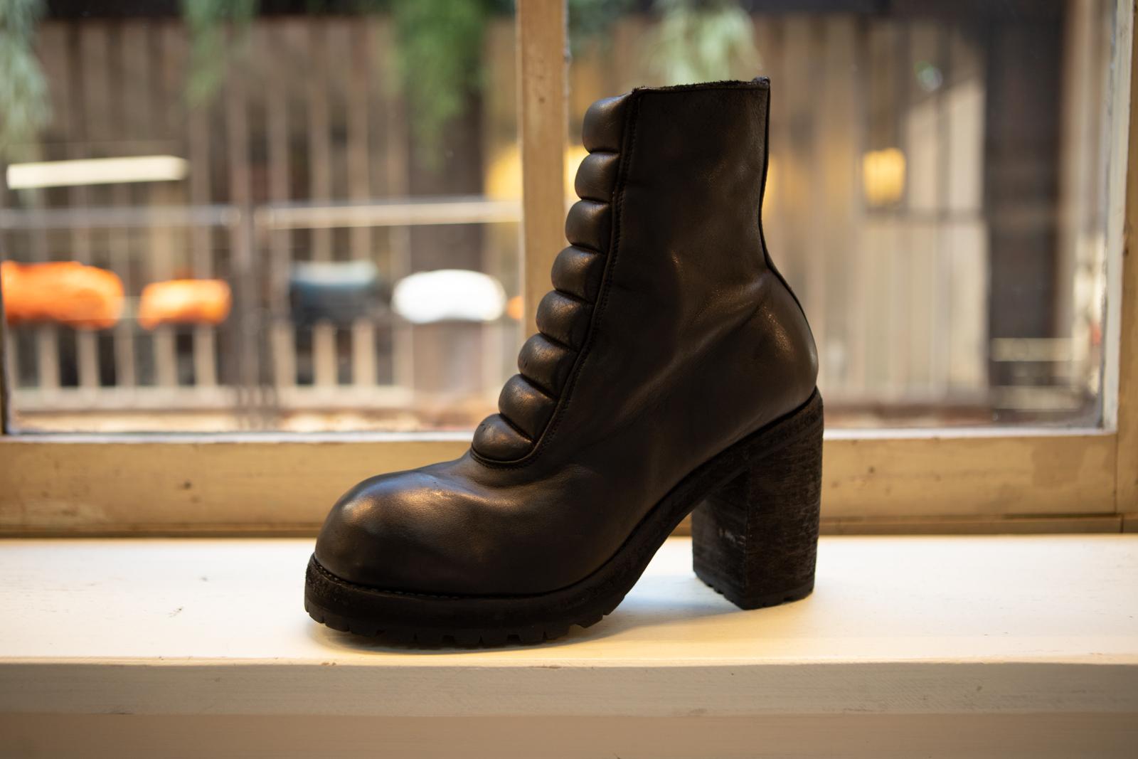 Guidi High Heel Boot in Black Leather FW20