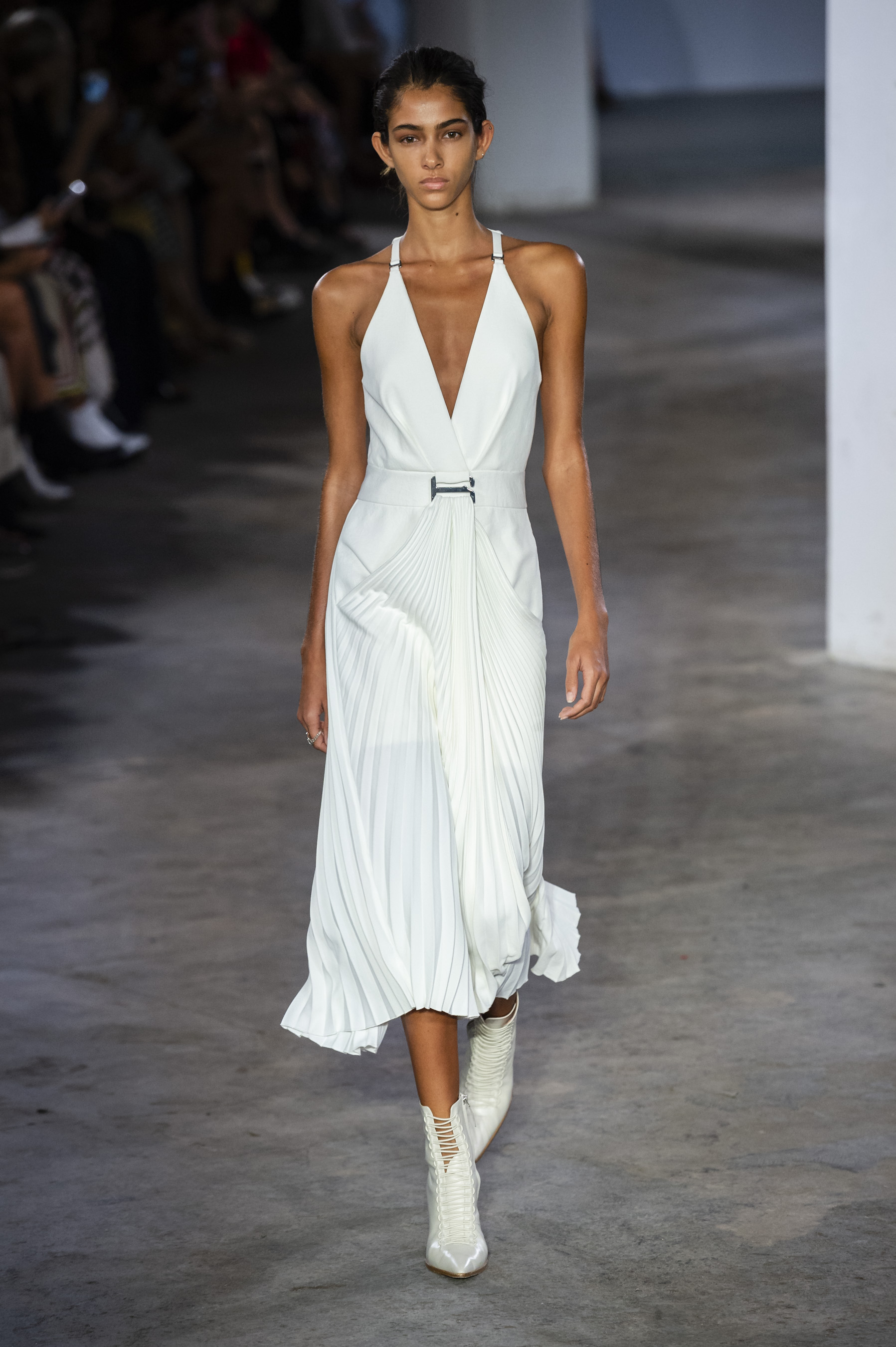 Dion Lee Runway Suspended Draped Dress in White Spring 19 RTW