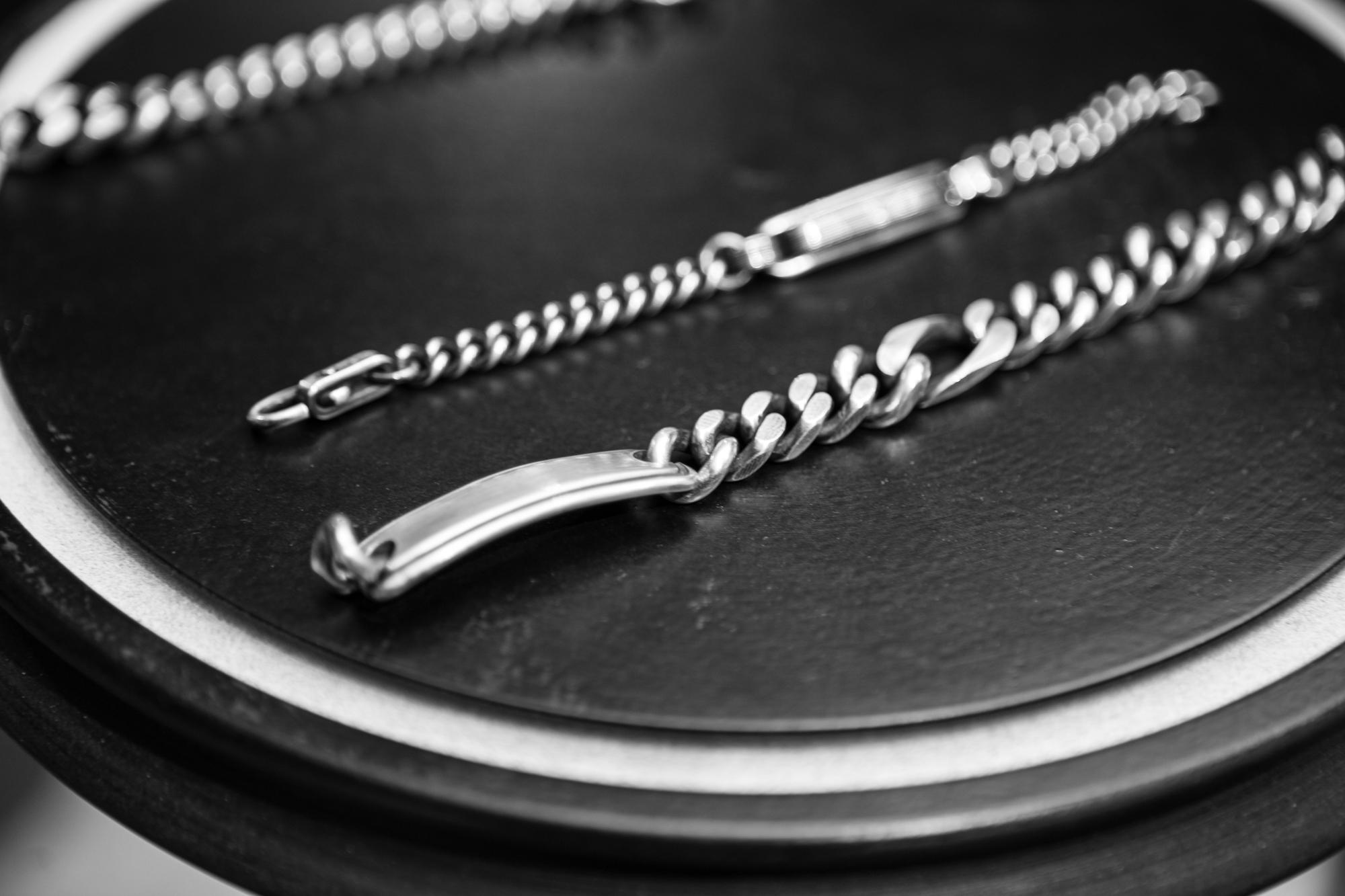WERKSTATT:MÜNCHEN SHOWROOM Name Tag Bracelets in Sterling Silver FW20