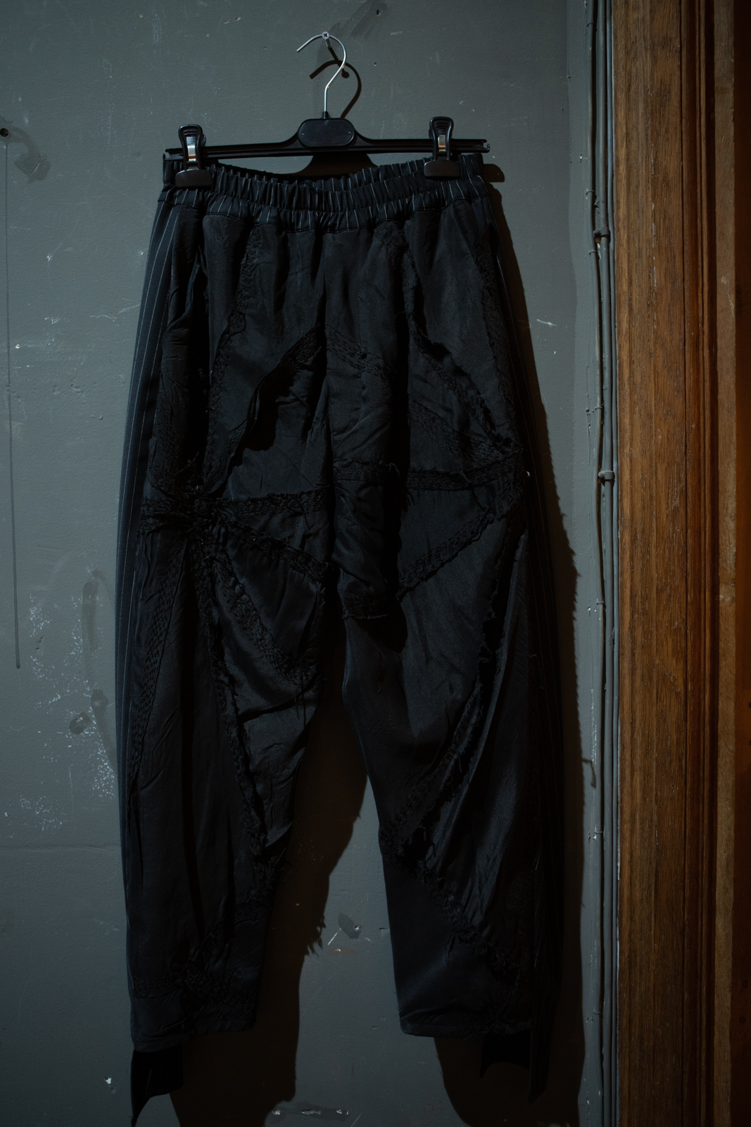 By Walid Patchwork Pants in Black FW20