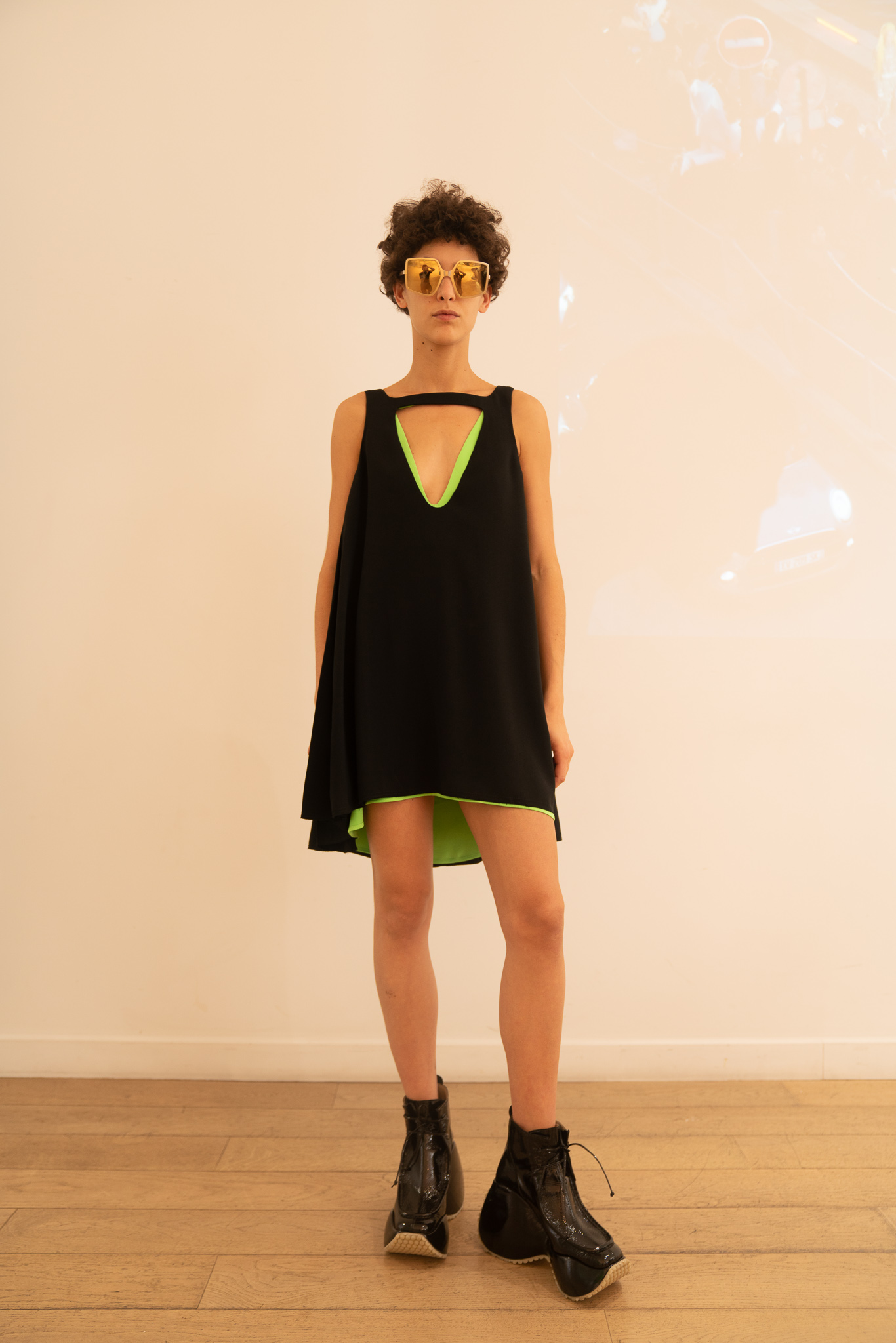 Courreges Cutout Dress in Black SS20