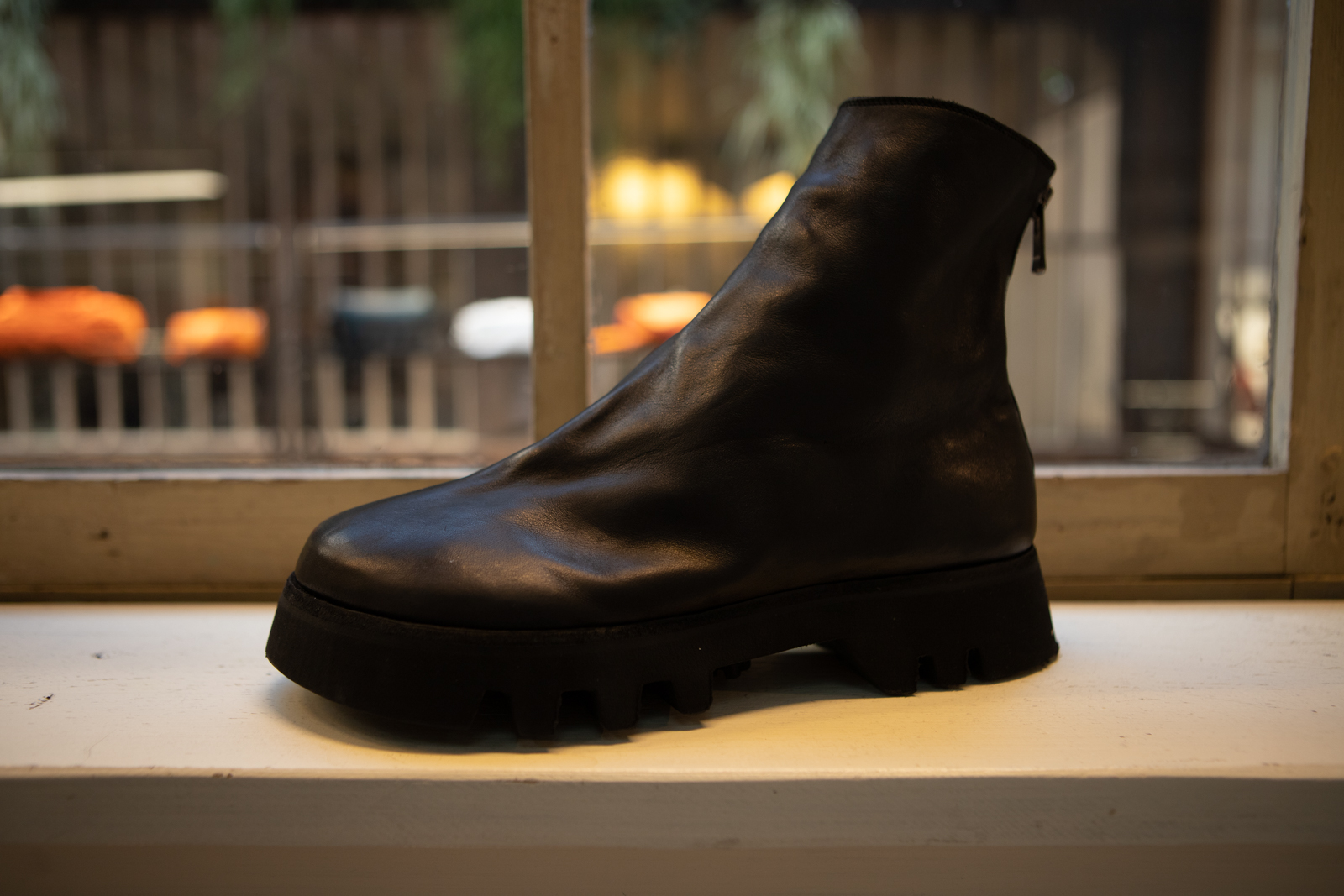 Guidi Back Zip Boot in Blac Leather FW20