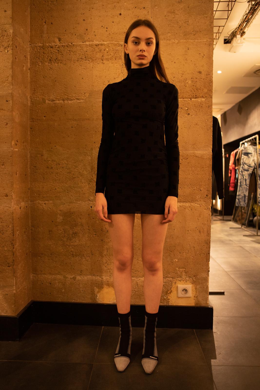 Misbhv Turtleneck Mini Dress in Black FW20