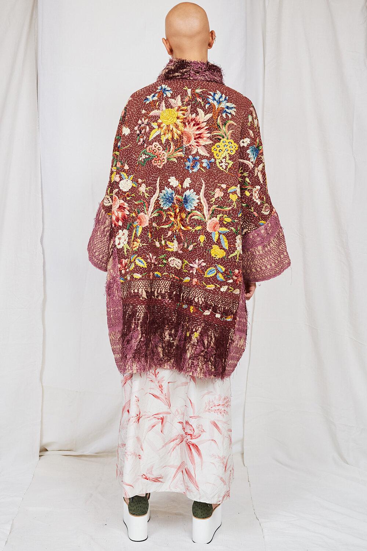By Walid Womenswear Floral 19th Century Piano Shawl Jacket SS20