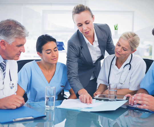 group of healthcare administrators