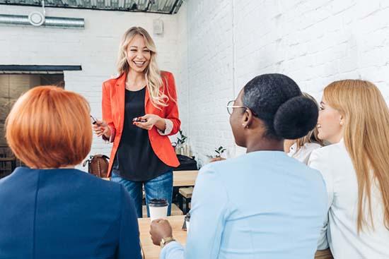 teaching a group