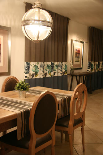 Design Singulier, architecture d'intérieur, salle à manger, lustre