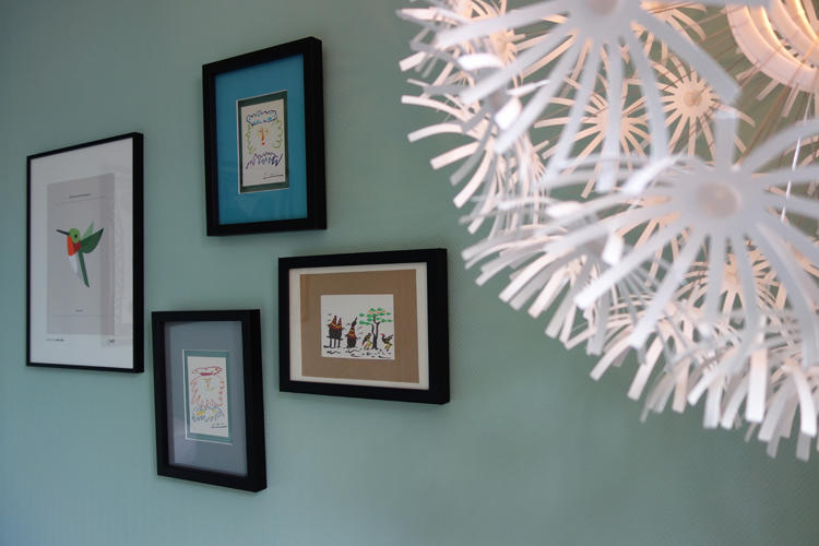 Design Singulier, architecture d'intérieur, chambre enfant bleu ciel
