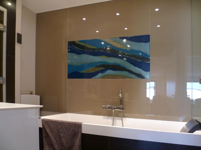 Design Singulier, architecture d'intérieur, salle de bain verre