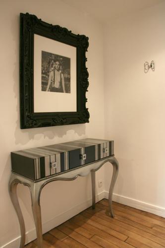 Design Singulier, architecture d'intérieur, entrée noire et blanche