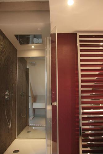 Design Singulier, architecture d'intérieur, salle de bain, douche miroir