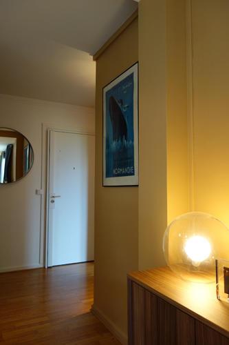 Design Singulier, architecture d'intérieur, entrée camel