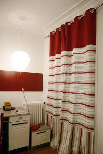 Design Singulier, Architecture d'intérieur, rideaux rayures
