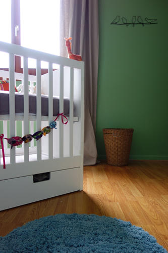 Design Singulier, architecture d'intérieur, chambre enfant verte