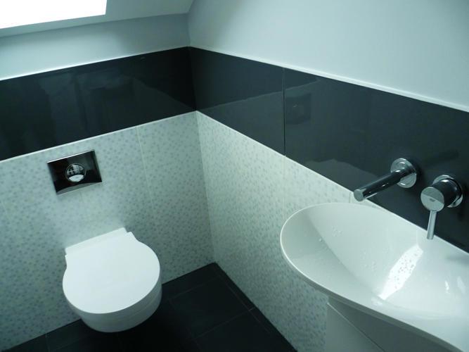 Design Singulier, architecture d'intérieur, salle de bain, wc gris