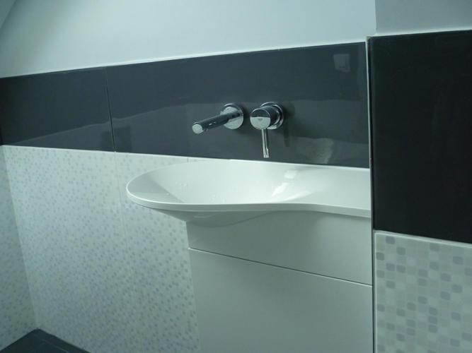 Design Singulier, Architecture d'intérieur, carrelage gris
