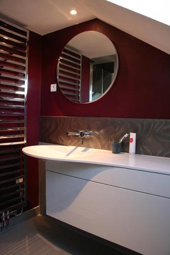 Design Singulier, architecture d'intérieur, salle de bain fuschia