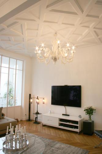 Design Singulier, architecture d'intérieur, séjour, espace tv