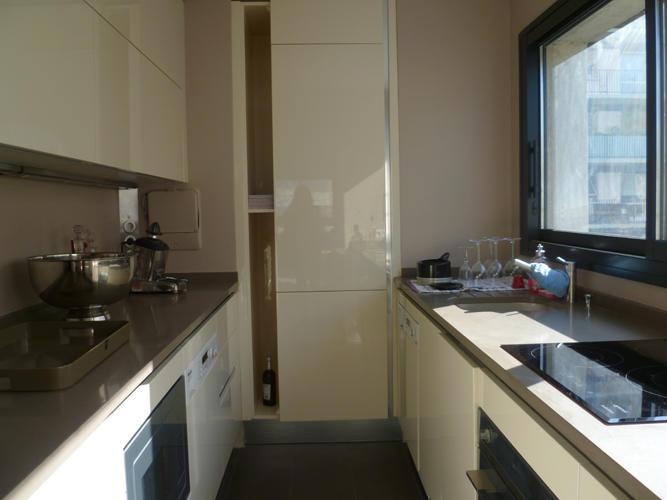 Design Singulier, architecture d'intérieur, cuisine beige