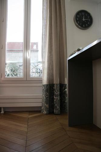 Design Singulier, Architecture d'intérieur, rideaux lin et velour