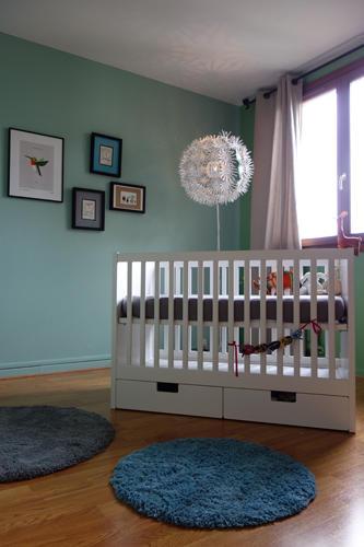 Design Singulier, architecture d'intérieur, chambre enfant bleue