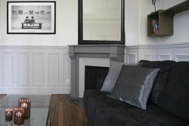 Design Singulier, architecture d'intérieur, séjour gris