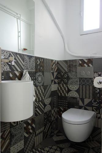 Design Singulier, architecture d'intérieur, salle de bain, wc carrelage motifs