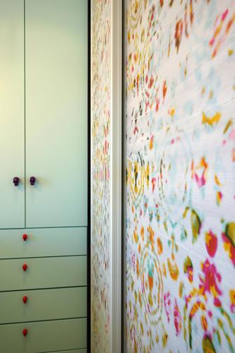 Design Singulier, Architecture d'intérieur, tapisserie colorée