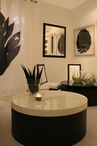 Design Singulier, architecture d'intérieur, séjour, rond, noir et blanc