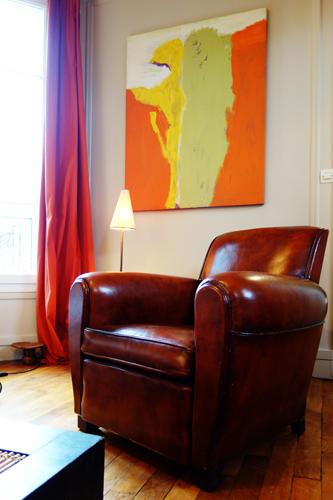 Design Singulier, Architecture d'intérieur, rideaux orange