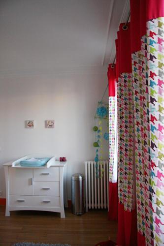 Design Singulier, architecture d'intérieur, chambre enfant, rideaux