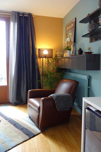 Design Singulier, Architecture d'intérieur, rideaux gris