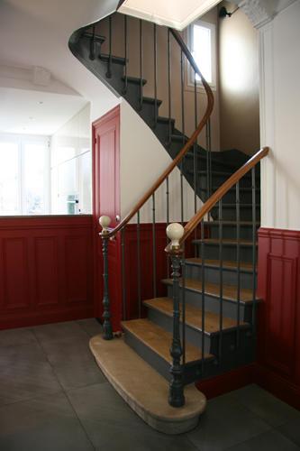 Design Singulier, architecture d'intérieur, entrée escaliers