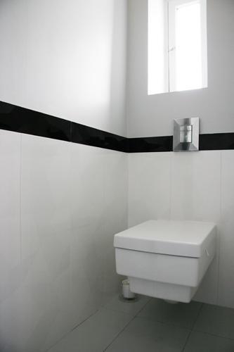 Design Singulier, Architecture d'intérieur, carrelage noir et blanc