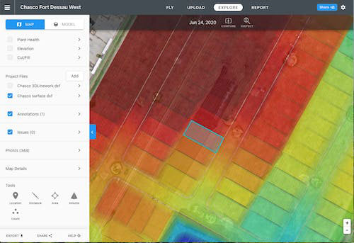 Users can now upload DXF and LandXML design surfaces into DroneDeploy.