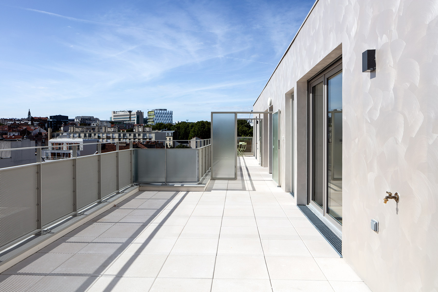 Terrasse du programme immobilier neuf à Gentilly