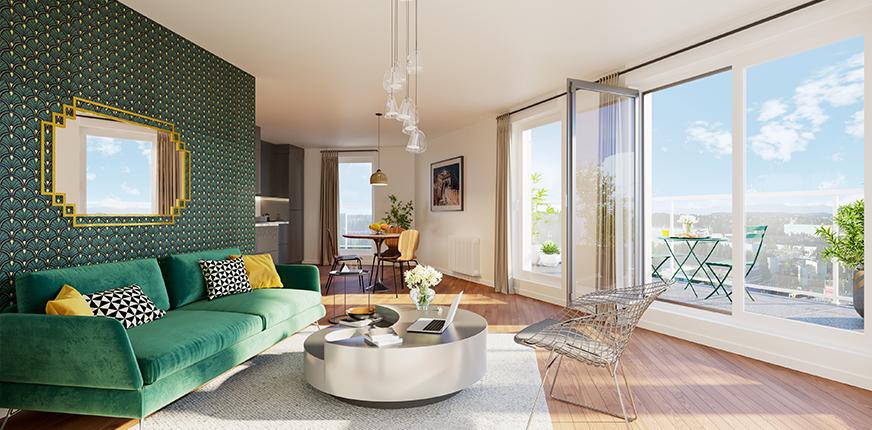 Salon du programme immobilier neuf Paul Héroult à Rueil-Malmaison
