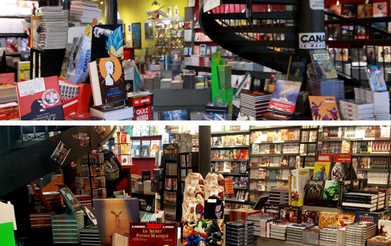 Intérieur de la librairie BD KrazyKat - Enercoop Nouvelle-Aquitaine
