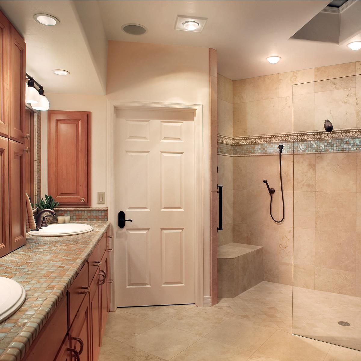Bathroom Update Design Ideas   Walk In Shower, Tile Counter.
