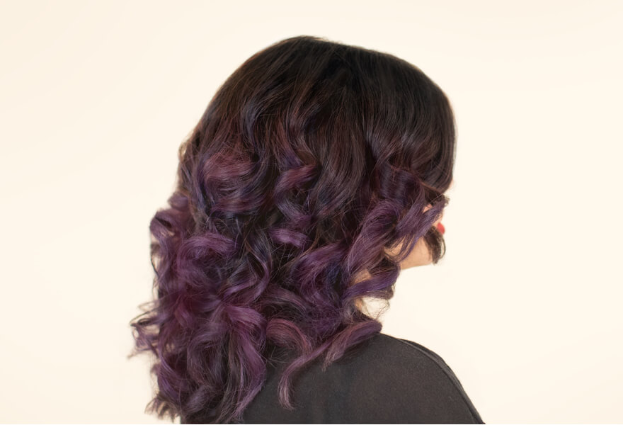 Mulled wine hair color
