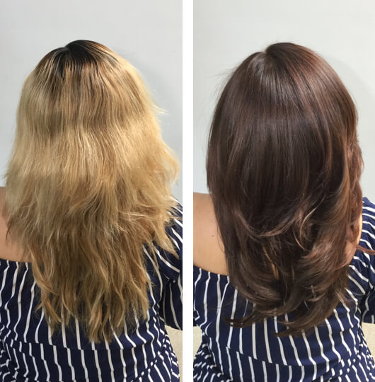 Colorfill hair color application